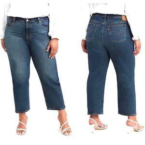 Levi's 501 Original Cropped Jean High Rise Stretch